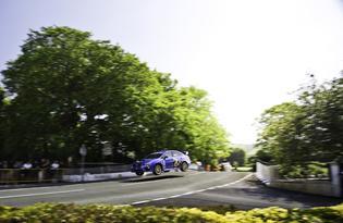 2015 Subaru WRX STI at Isle of Man TT Course