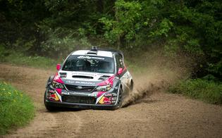 Subaru Driver David Higgins Storms to Ojibwe Forest Rally Victory