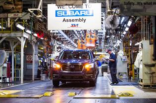 Subaru Ascent SUV Start of Production