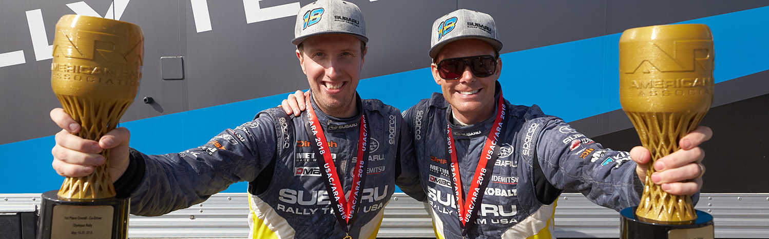 PATRIK SANDELL WINS THE 2018 OLYMPUS RALLY IN STAGE RALLY DEBUT WITH SUBARU