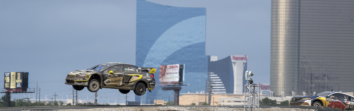 Subaru on the Podium at Red Bull Global Rallycross Atlantic City.