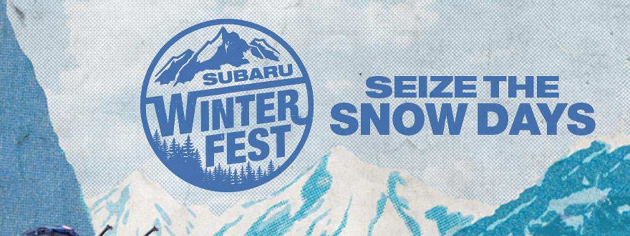 #SEIZETHESNOWDAYS: SUBARU WINTERFEST LIFESTYLE TOUR CELEBRATES WINTER ADVENTURE